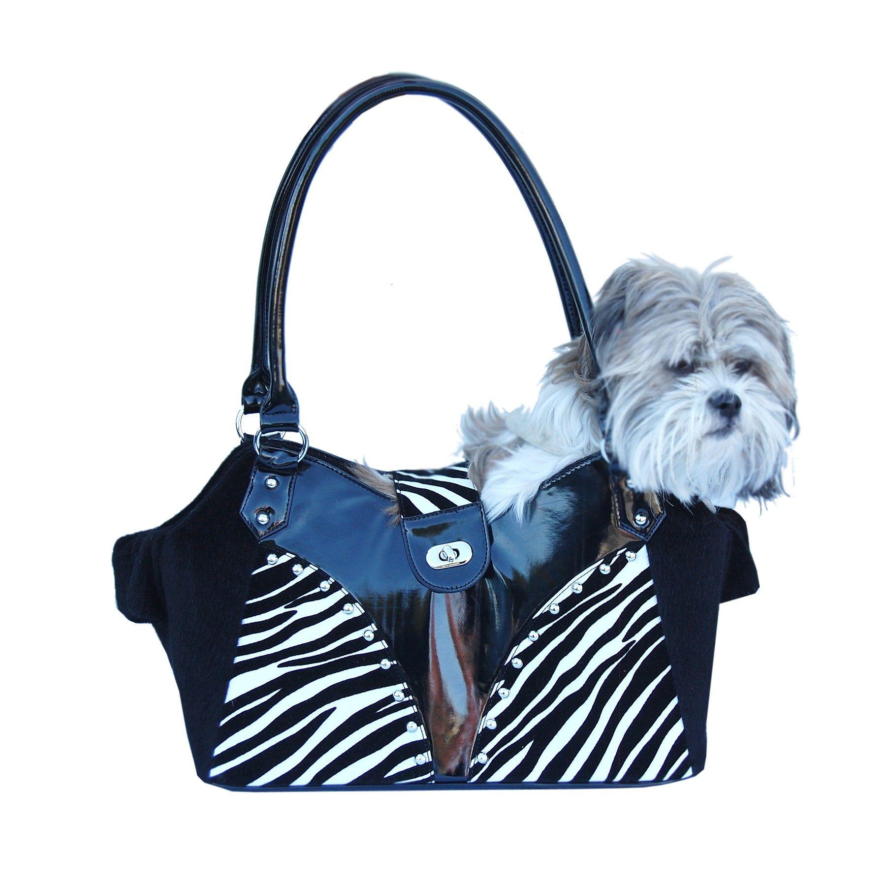 Shoulder Bag Pet Carrier With Fur Trim 107