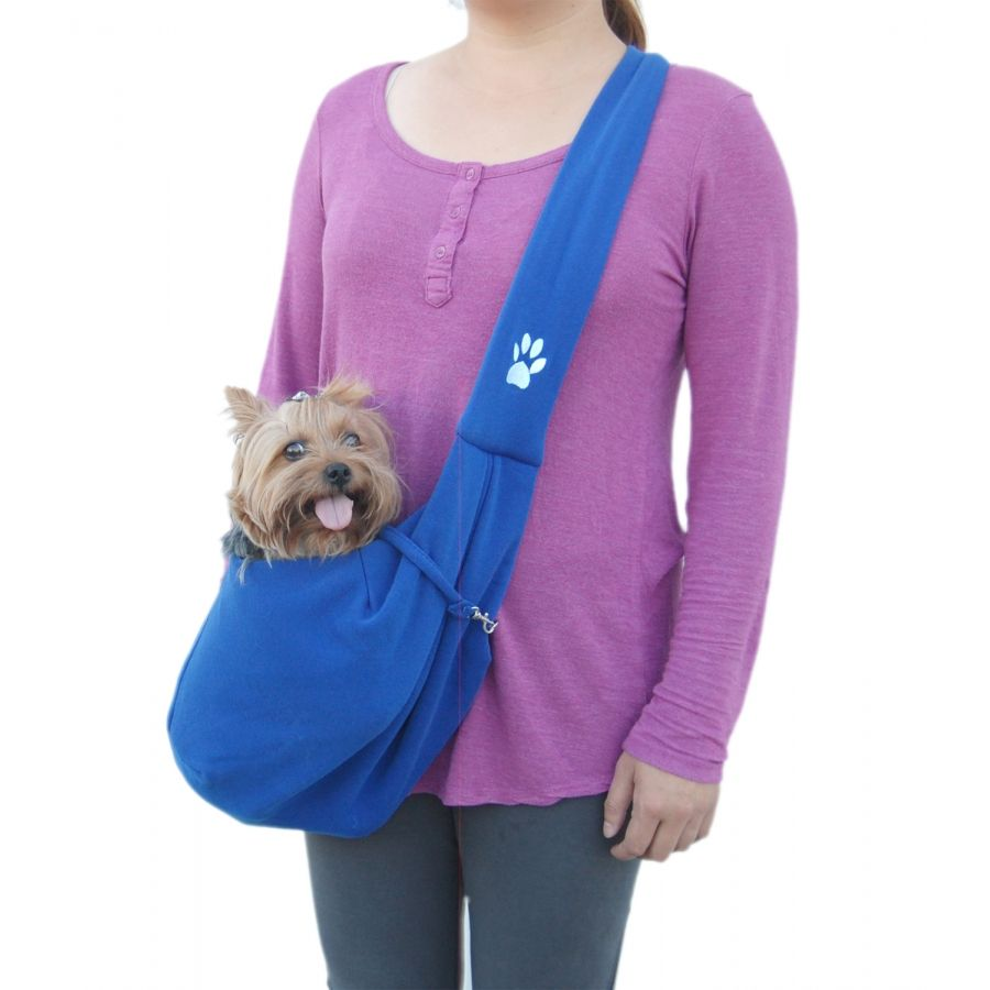 Designer Dog Shoulder Sling Bag - Blue