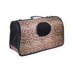 Hard Shell Dog Travel Carrier Leopard