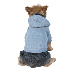 Gray pullover dog sweater
