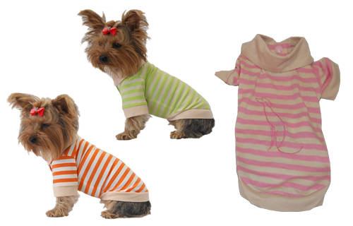 Dog polo t shirt orange, green, pink 3 snap closures