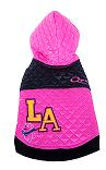 Pink L.A. Fashion Quilted dog jacket