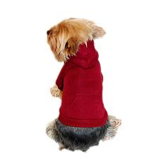 Burgundy pullover dog sweater