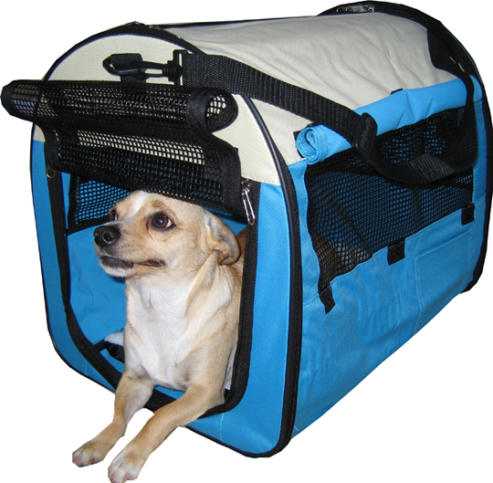 Blue Designer Dog Tent/Crate