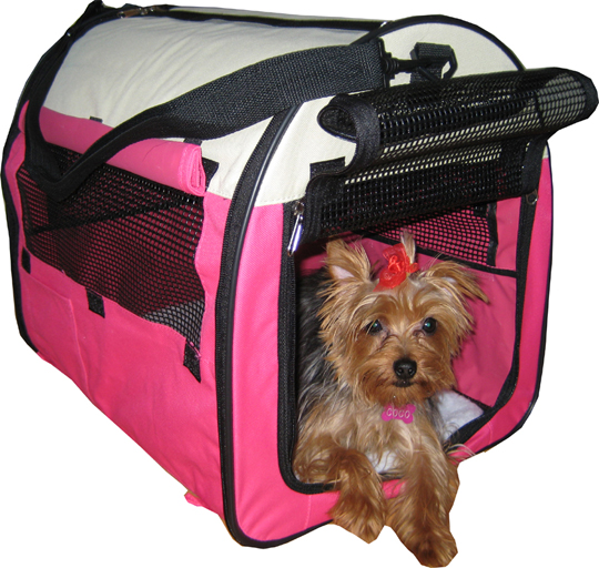Hot Pink Designer Dog Tent/Crate