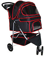 Black pet stroller carrier