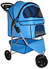 3 wheel doggie stroller carrier - blue