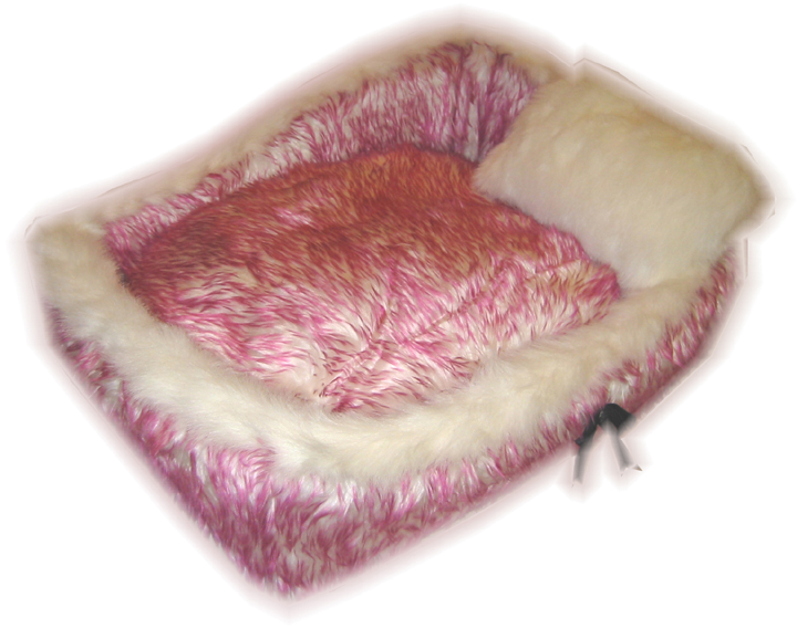 Designer Silky Fluff Dog Bed - Purple