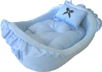 Blue dog/cat bed