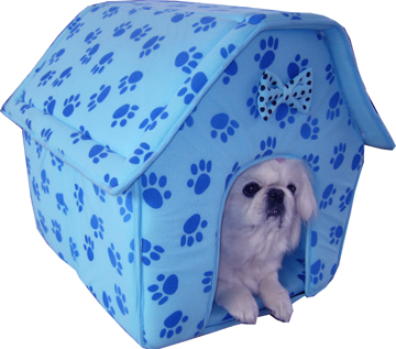 Blue collapsible doghouse (3017)