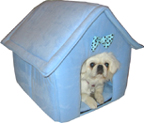 Collapsible designer dog house (prince blue) 3012
