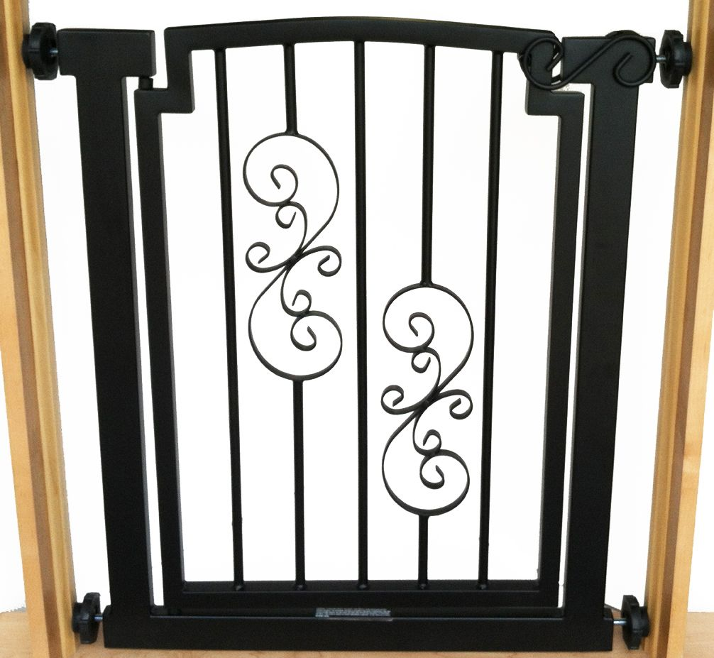 Black doorway dog gate