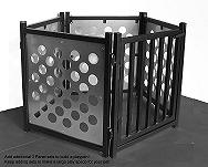 Dog door panel with multiple freestanding dog gate units