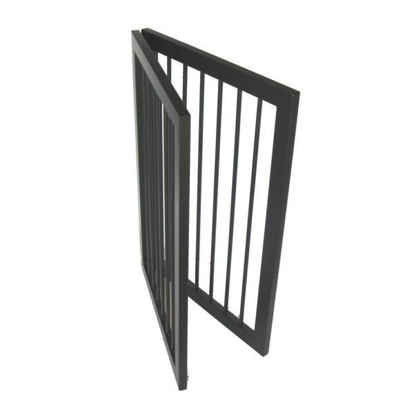 Two panel dog gate easy to fold and put away