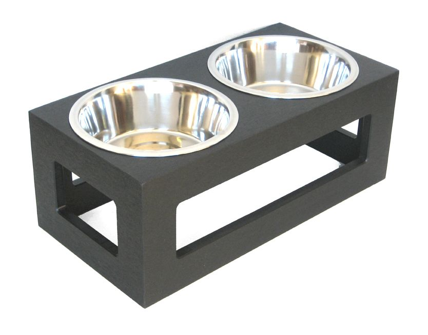 Black Porchside dog outdoor double diner