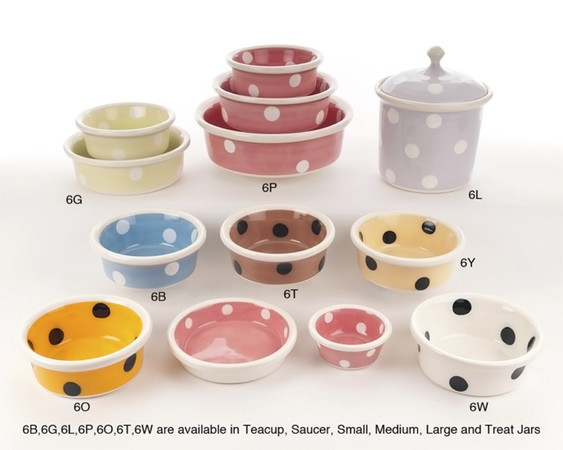 Colored ceramic pottery bowls for xlarge dog diner