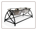 Raised Double Bowl Butterfly Dog Diner