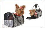 Houndstooth  Dog Travel Bag