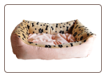 Paws Print Ultra Plush Dog Bed