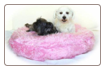 Faux Fur Round Pillow  Dog Bed