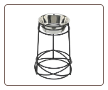 "18"" Raised Single Mesh Dog Diner"