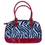 Zebra Print Designer Dog Carrier Bag