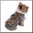 Designer Leopard Fur Dog Coat
