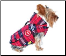 Designer Stuffed Plaid Dog Parka Jacket