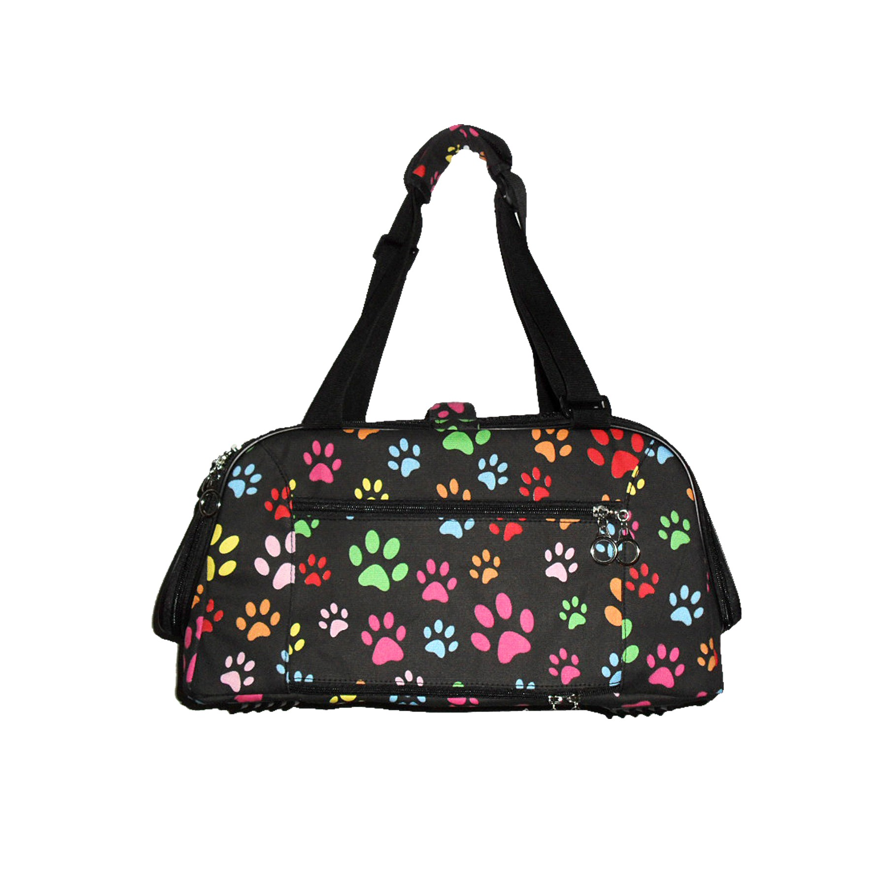 Dog Soft Shoulder Travel Bag - paw prints