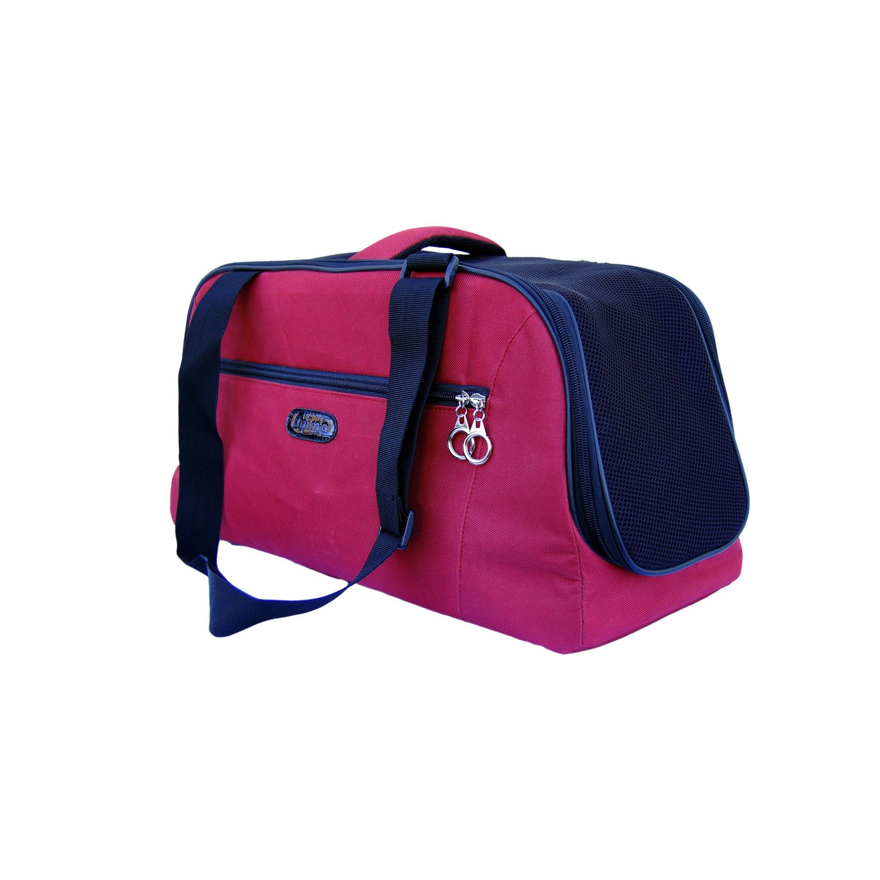Burgundy dog shoulder travel bag