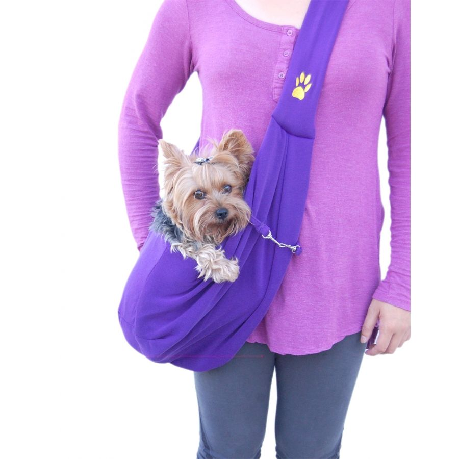 Designer Dog Shoulder Sling Bag - Purple
