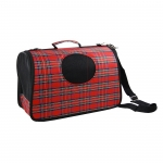Hard Shell Dog Travel Bag red