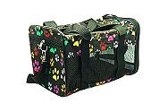 Paw print dog travel bag