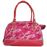 Camouflage Dog Carrier Bag - pink