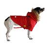 Red detective dog coat side view