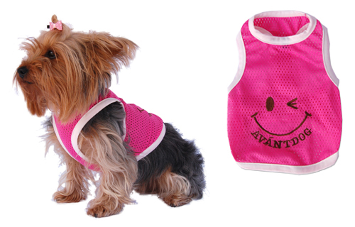 Pink dog tank top/t-shirt