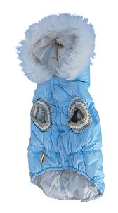 Blue Designer dog bubble jacket