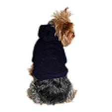 Blue pullover dog sweater