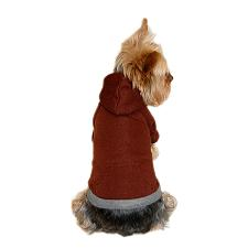 Brown pullover dog sweater