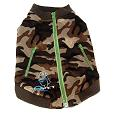 Dog Zipper Sweat Shirt Camouflage Green