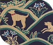 Sofa cover for dog tapestry blue