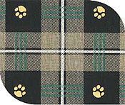 Ultimate foam dog bed paw plaid