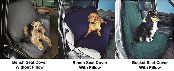 Dog Car Seat covers - bucket and full (bench)
