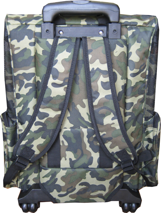 Camouflage dog backpack pet carrier rearview