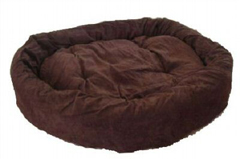 Large Coffee-brown dog bed