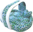 Foam dog bed blue