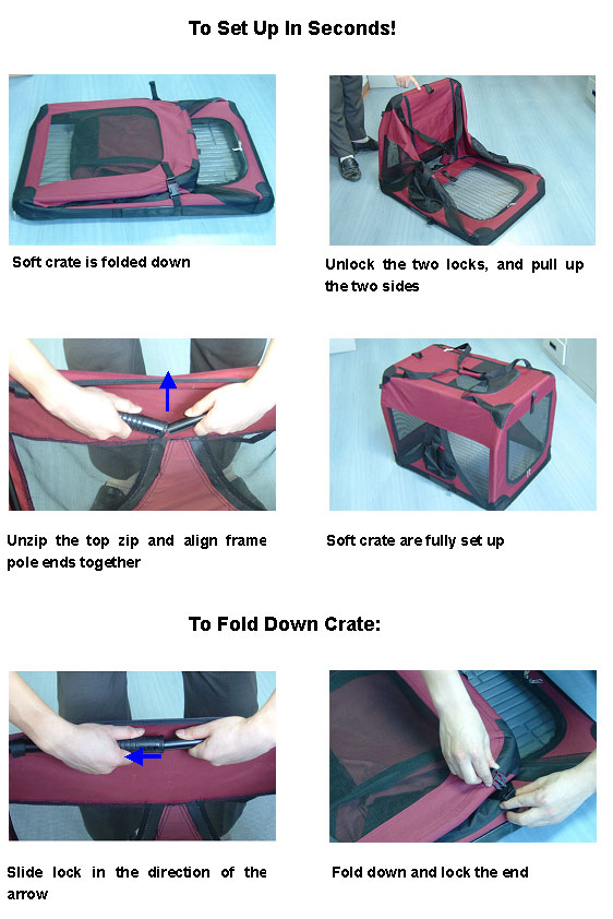how to assemble and fold your dog soft crate