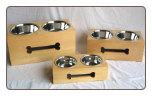 Raised Wooden Dog Double Diner