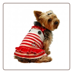Designer Sailor Girl Dog Stripe Dress