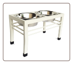Swan Double Elevated Diner for Dogs